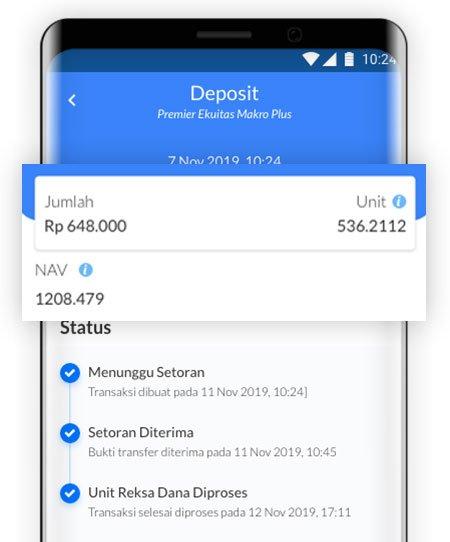 Transaksi selesai di Aplikasi Ajaib