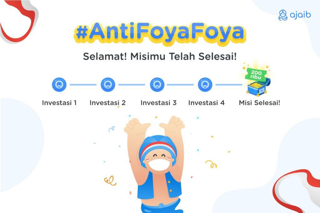 apresiasi untuk investor ajaib yang menyelesaikan misi generasi anti foya-foya