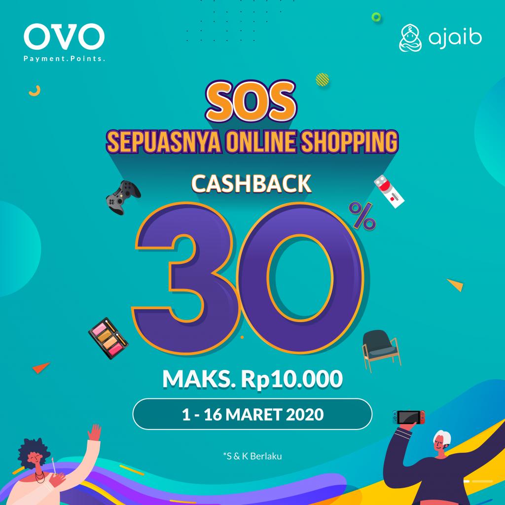 Poster Promo OVO SOS - Sepuasnya Online Shopping