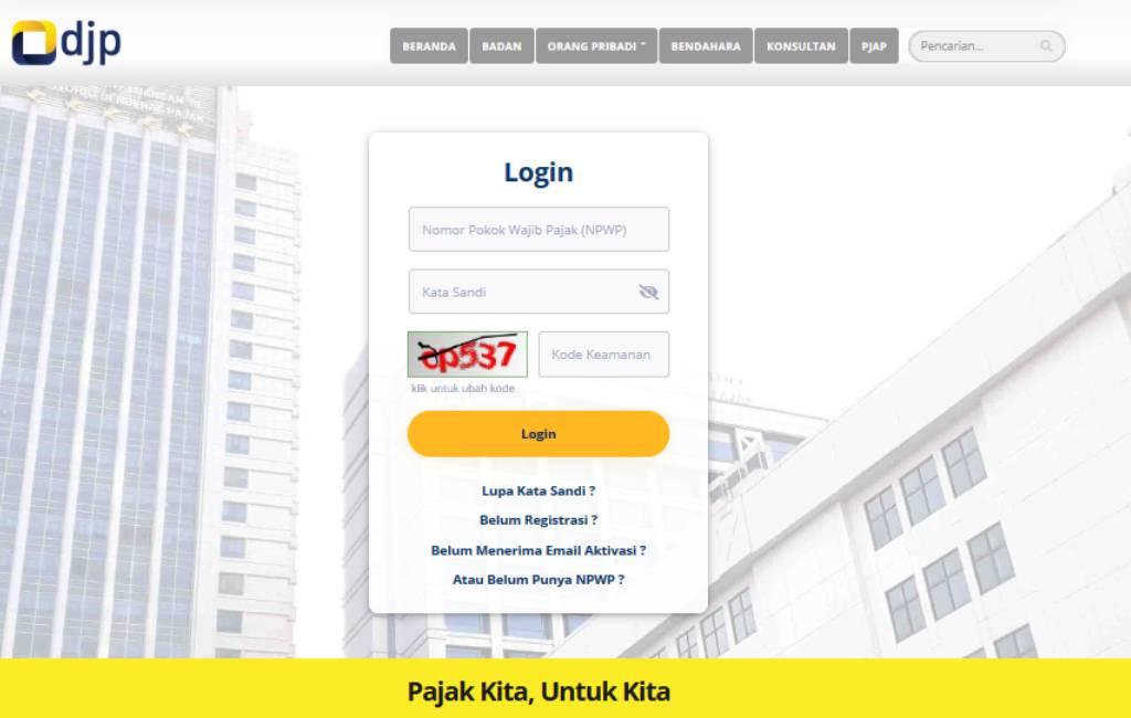 DJP Pajak Online Layanan Pajak Online Terintegrasi