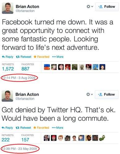 pendiri whatsapp ditolak twitter dan facebook
