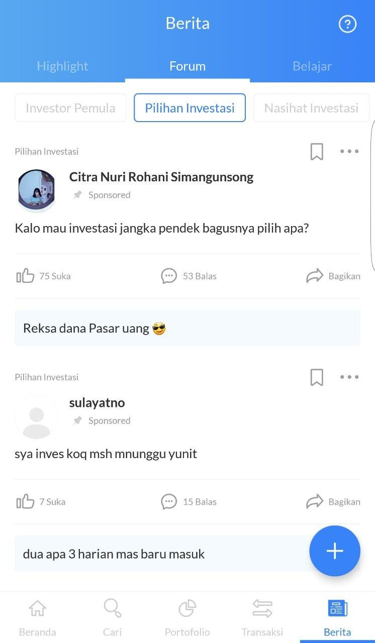 Forum seputar saham di ajaib