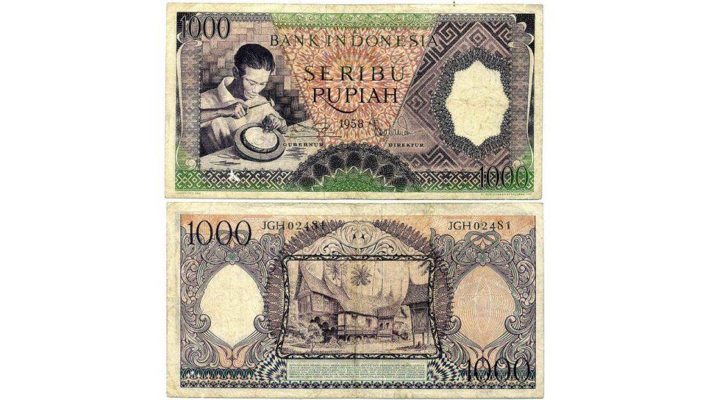 Uang Seribu Rupiah 1958