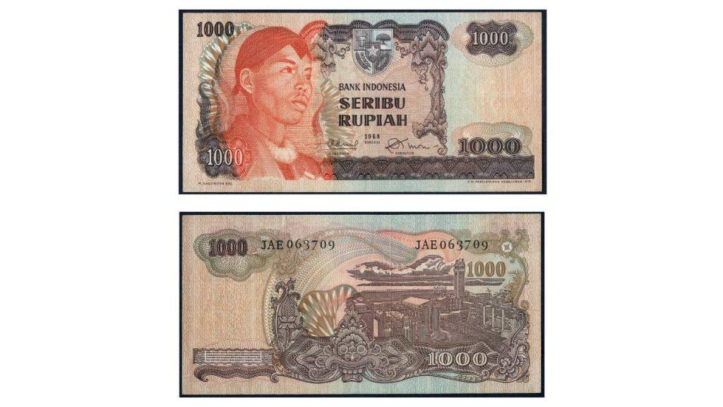 Uang Seribu Rupiah 1968