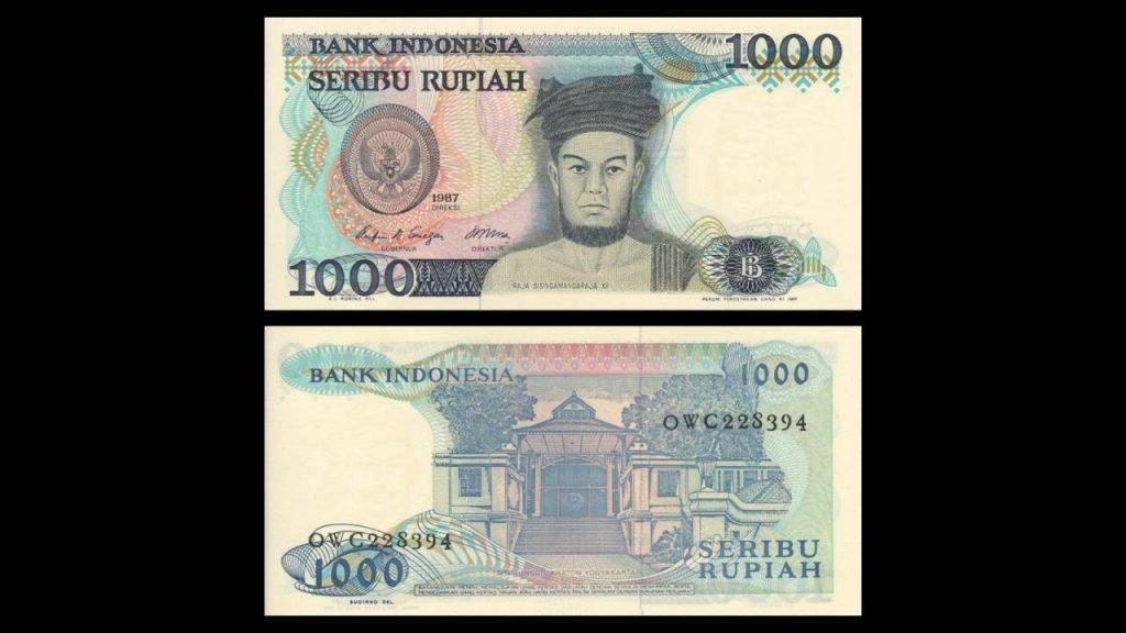 Uang Seribu Rupiah 1987