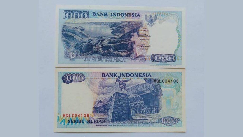 Uang Seribu Rupiah 1992