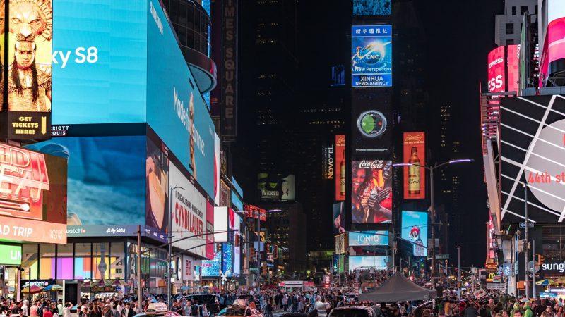 Billboard di Time Square New York.