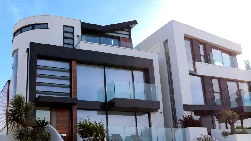 Sebuah rumah modern.