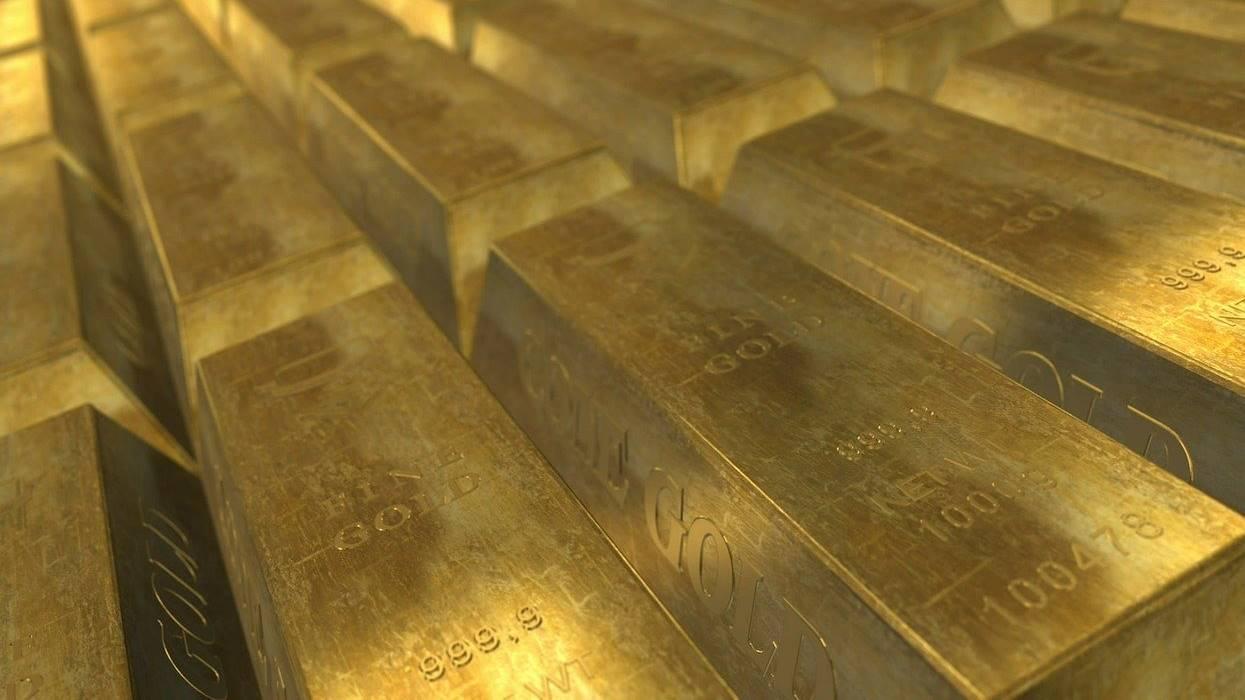 Ilustrasi tabungan emas Antam.