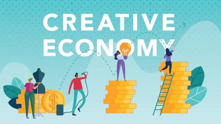 Ilustrasi ekonomi kreatif.