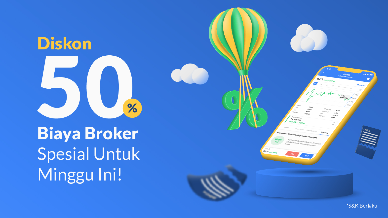 Spesial Diskon 50% biaya broker