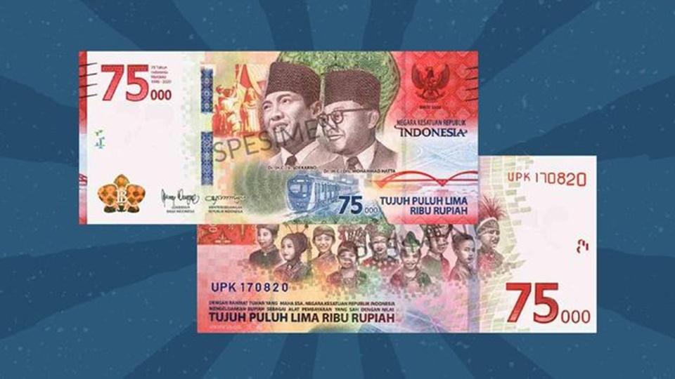 Uang kertas baru nominal Rp75.000