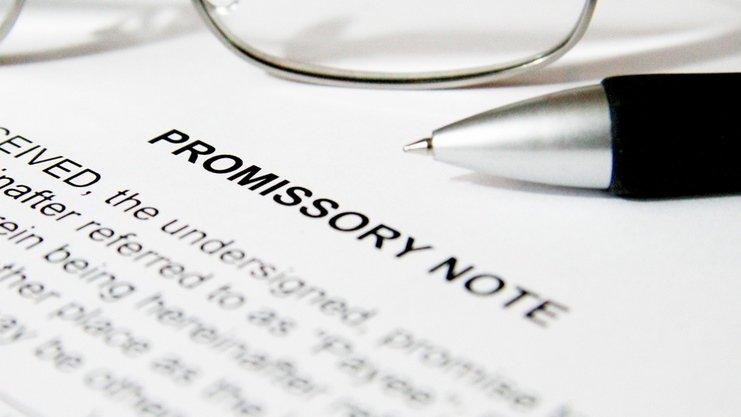 Ilustrasi promissory notes.