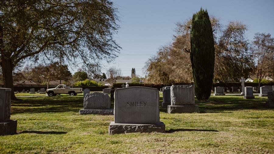Ilustrasi pemakaman San Diego Hills.
