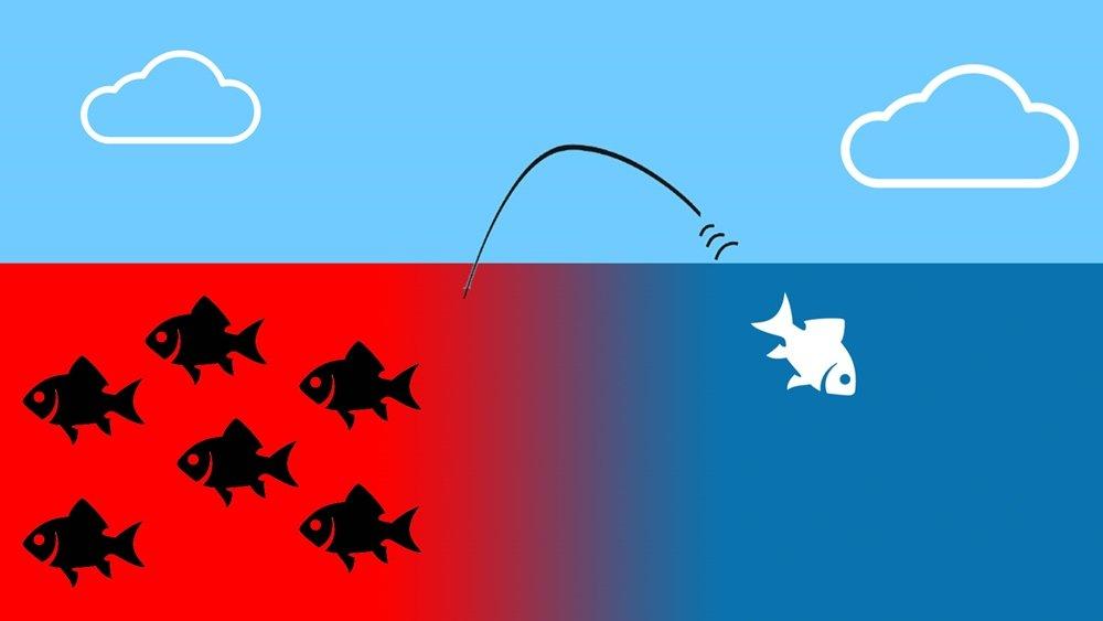 Ilustrasi blue ocean strategy.