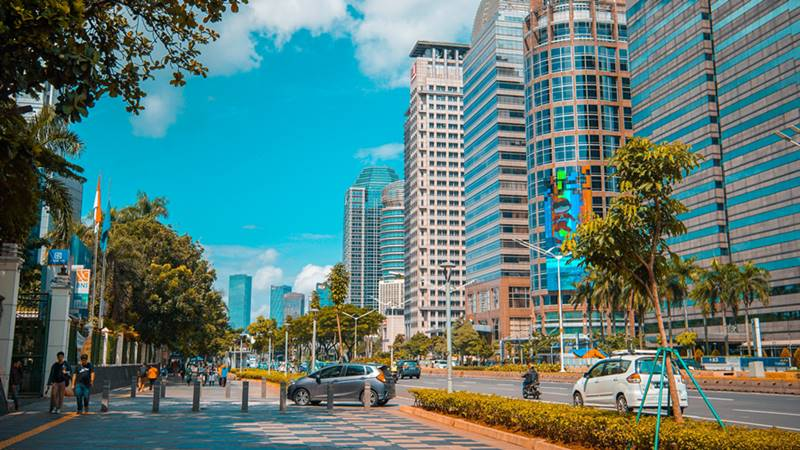 Jakarta, sa;ah satu kota di Indonesia.