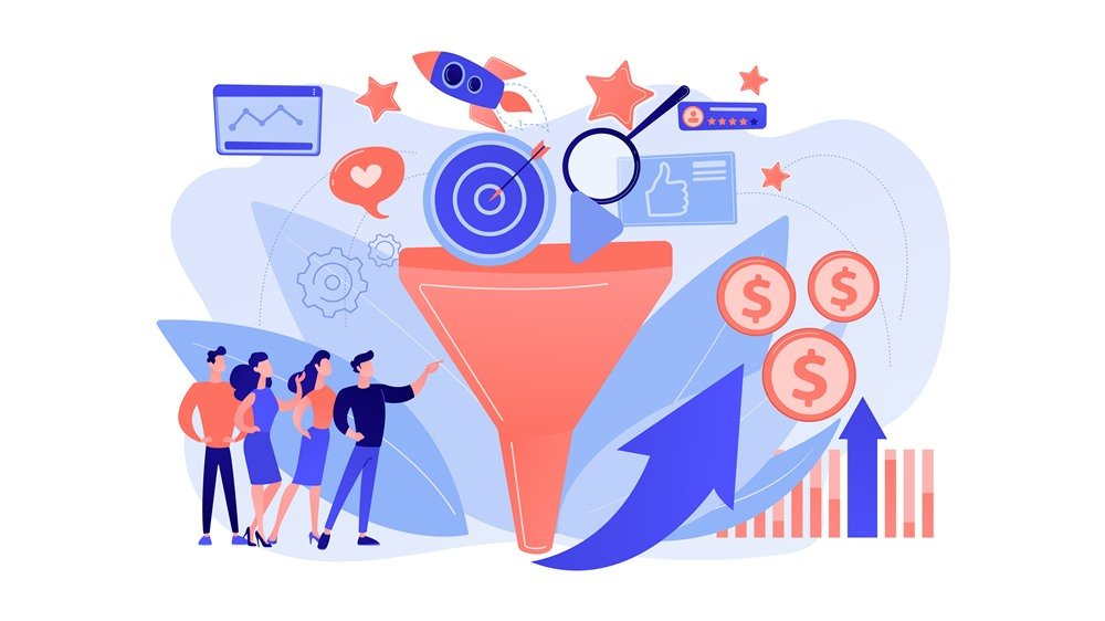 Ilustrasi martketing funnel.