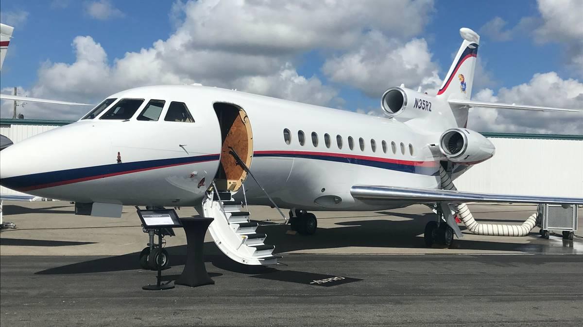 Tampilan pesawat pribadi.