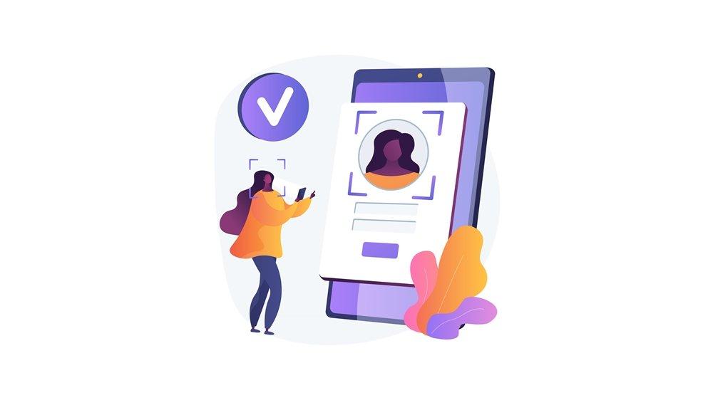 Ilustrasi cara verifikasi akun.