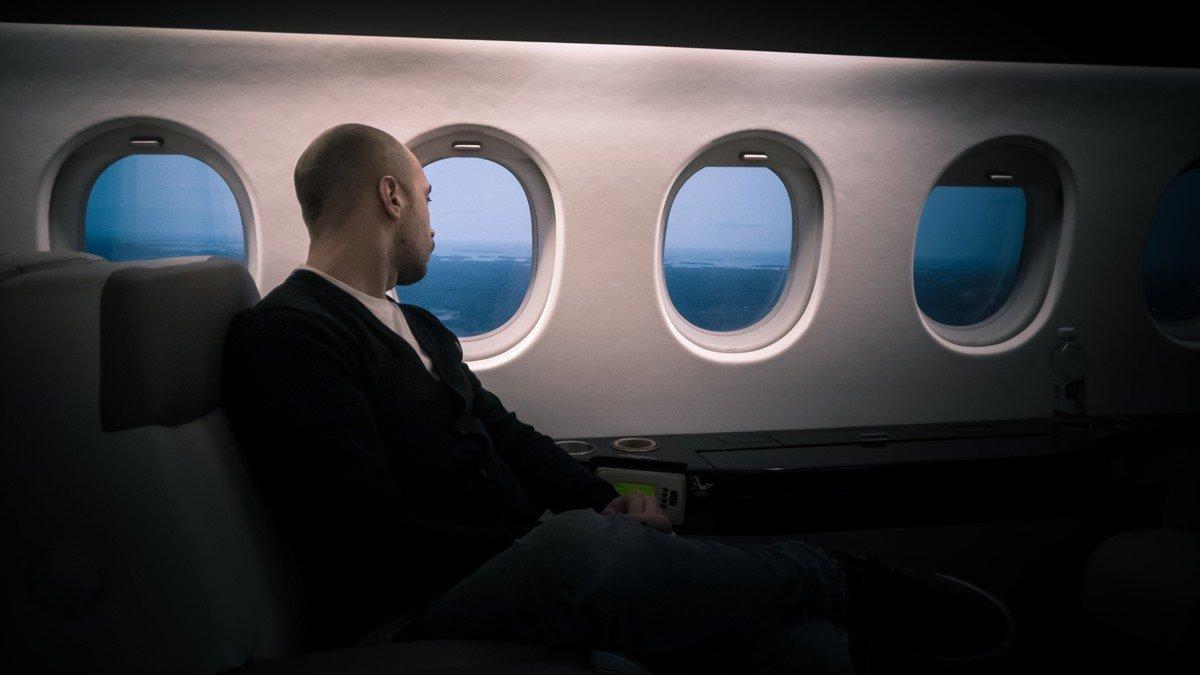 Ilustrasi first class dalam pesawat.