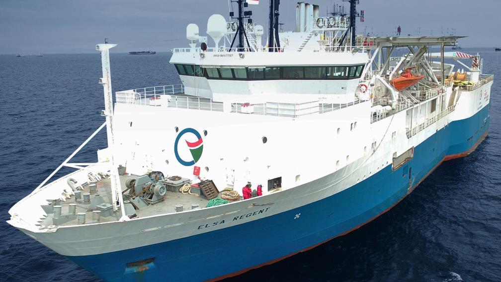 Kapal milik Elnusa (ELSA).