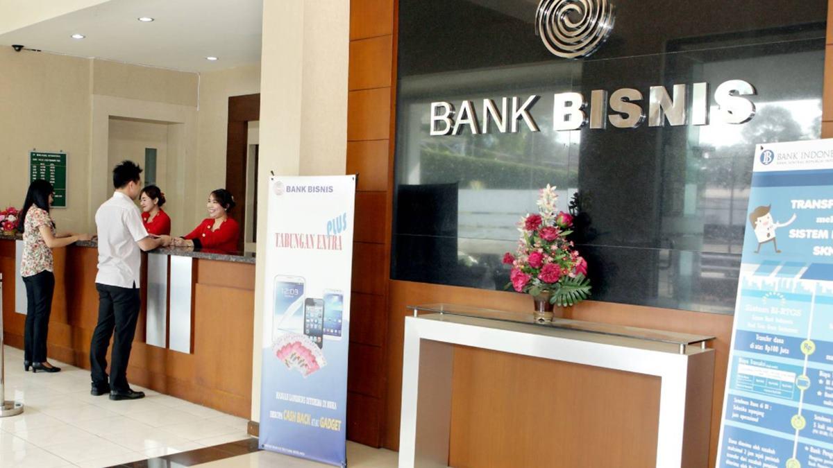 Suasana di dalam Bank Bisnis Internasional (BBSI).