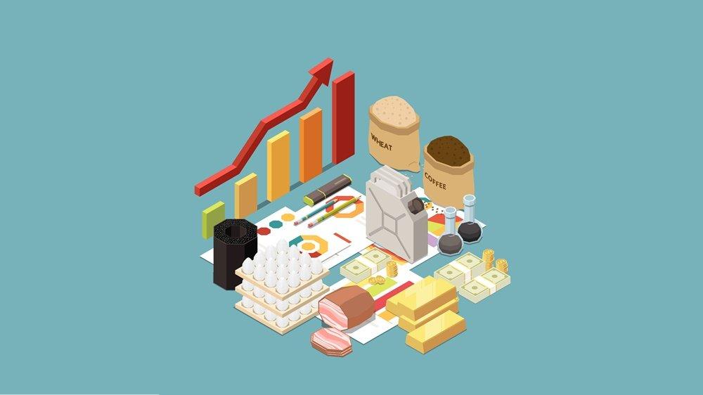 Ilustrasi berbagai macam jenis komoditas.