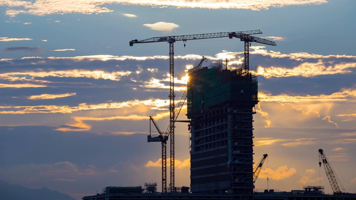 Ilustrasi konstruksi bangunan.