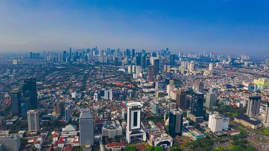 Suasana Kota Jakarta.