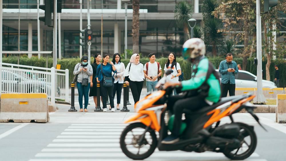 Suasana ibu kota Jakarta.